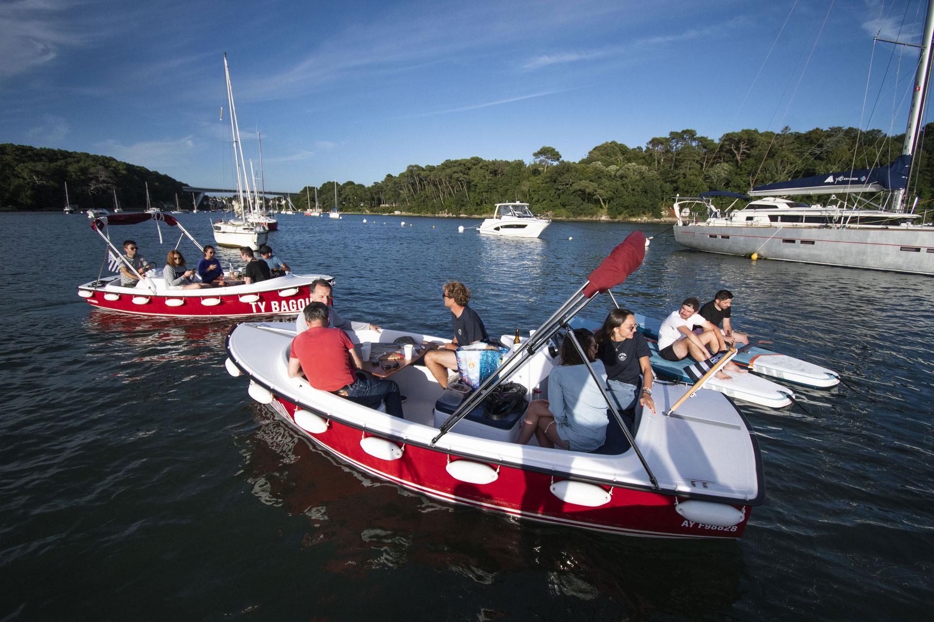 apéritif bateau électrique